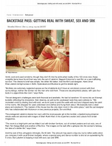 httpmumbaimirror.indiatimes.comentertainmentbollywoodBackstage-pass-Getting-real-with-sweat-sex-and-SRKamp_articleshow27199153.cms